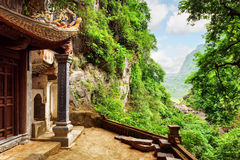 Scenic view from the Bich Dong Pagoda, Ninh Binh, Vietnam Royalty Free Stock Images