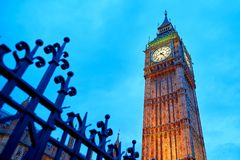Scenic view of Big Ben at sunset Royalty Free Stock Photos