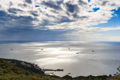Scenic view on the Black sea coast. And the sky with clouds, Crimea, Ukraine Stock Image