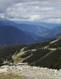 Scenic View from Blackcomb Mountain in Whistler, BC Stock Image