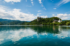 Scenic view of Bled Lake, Slovenia. Stock Image