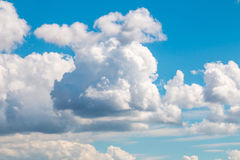 Scenic view at blue sky with clouds Royalty Free Stock Images
