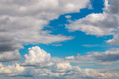 Scenic view at blue sky with clouds Royalty Free Stock Photography