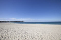 Scenic view of Bondi beach against blue sky, Sydney, Australia Stock Photos