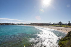Scenic view of Bondi beach against sky, Sydney, Australia Royalty Free Stock Images