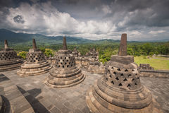 A scenic view of the Borobudur temple - Indonesia Stock Images