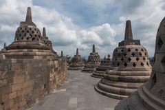 A scenic view of the Borobudur temple - Indonesia Stock Photos