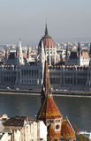 Scenic view of Budapest. From the Fisherman's Bastion Stock Photo