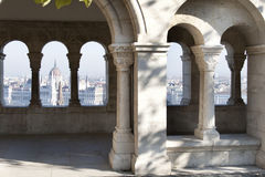 Scenic view of Budapest, Hungary. View on Parliament form Fisherman's Bastion, Budapest Royalty Free Stock Photos