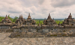 Scenic view of the Buddhist Borobudur temple in Indonesia Royalty Free Stock Images