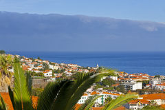 Scenic view of buildings in Funchal city, Madeira island, Portug Stock Photography