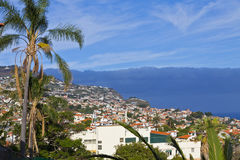 Scenic view of buildings in Funchal city, Madeira island, Portug Stock Images