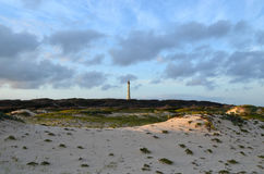 Scenic View of the Caliornia Lighthouse in Aruba Royalty Free Stock Image