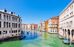 Scenic view of Canal Grande in Venice, Italy Stock Images