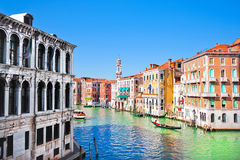Scenic view of Canal Grande in Venice, Italy Royalty Free Stock Photography