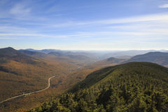 Scenic view from Cannon Mountain Royalty Free Stock Photography