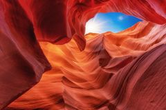 Scenic view at Canyon Antelope near Page, Arizona USA stock image