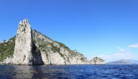 Cape Massullo and villa Malaparte, Capri island - Italy Stock Photo