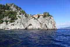 Scenic view of Cape Massullo, Capri island (Italy) Stock Photos