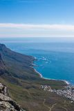Scenic View in Cape Town, Table Mountain, South Africa Stock Image