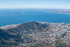 Scenic View in Cape Town, Table Mountain, South Africa Stock Images