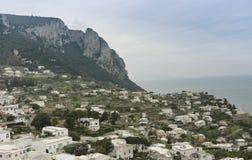 Scenic view of Capri Island, Italy stock photo