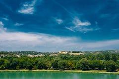 Scenic view of Castle Villeneuve les Avignon Stock Photo