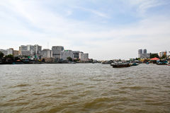 Scenic view of the Chao Praya River Stock Image