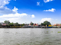 Scenic view of the Chao Praya River Royalty Free Stock Images