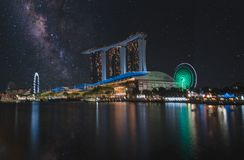 Scenic View of City During Night Time stock images