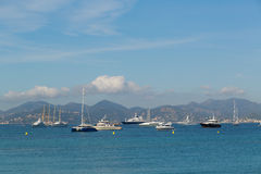 Scenic view of coast in Cannes Stock Photography
