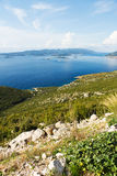 Scenic View From the Coast of Croatia Royalty Free Stock Photography