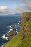 Scenic view of coast of Mykines Stock Image