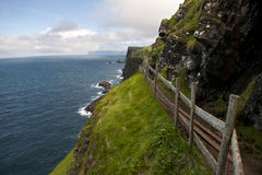 Scenic view of coast of Mykines, Faroe Islands Stock Photos