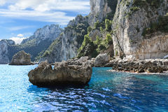 Coast of Tyrrhenian sea, Capri island - Italy Royalty Free Stock Image