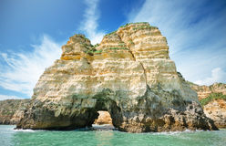 Scenic view of a coastline landscape in Lagos, Algarve, Portugal Stock Image