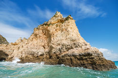 Scenic view of a coastline landscape in Lagos, Algarve, Portugal Stock Photography