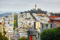 Scenic view at Coit tower in San Francisco. California, USA Royalty Free Stock Images