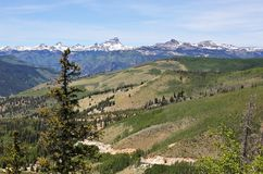 A View of Colorado State Highway 149 Through the San Juan Mountains royalty free stock image