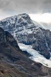 Scenic view of Columbia glacier and mountain peak, Jasper NP Royalty Free Stock Photos