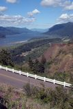 Scenic view of Columbia River Gorge. View of Columbia River Gorge from Crown Point in Oregon Royalty Free Stock Photos
