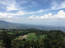 Scenic view of the countryside. Photo taken just outside San Jose, Costa Rica Stock Photography