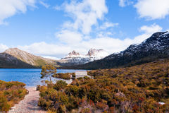 Scenic view of Cradle Mountain, Tasmania. Cradle Mountain, Tasmania, in winter, scenic view Royalty Free Stock Photos