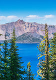 Scenic view of crater lake national park on sunny day,Oregon,usa.  Stock Photography