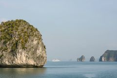 Scenic view during a cruise in Halong Bay Royalty Free Stock Images
