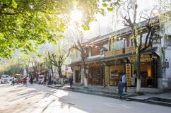 Scenic view of the Dali Old Town in Yunnan, China. It is a famous tourist destination of Asia. Royalty Free Stock Photo