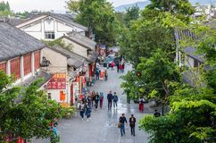 Scenic view of the Dali Old Town in Yunnan, China. It is a famous tourist destination of Asia. Stock Photography