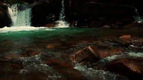 Scenic View of a Dark Waterfalls