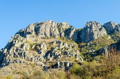 Scenic view from Demerdji to Alushta valley. Crimea.  Stock Image