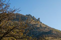 Scenic view from Demerdji to Alushta valley. Crimea Royalty Free Stock Photo